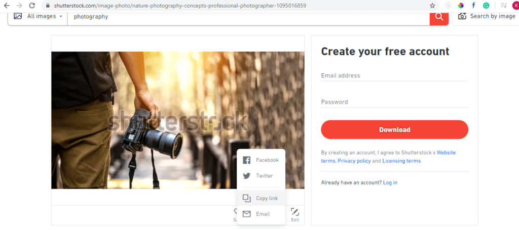 copy link Shutterstock Free Download