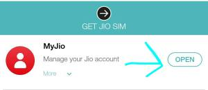 Jio My Account