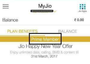 Jio Prime member