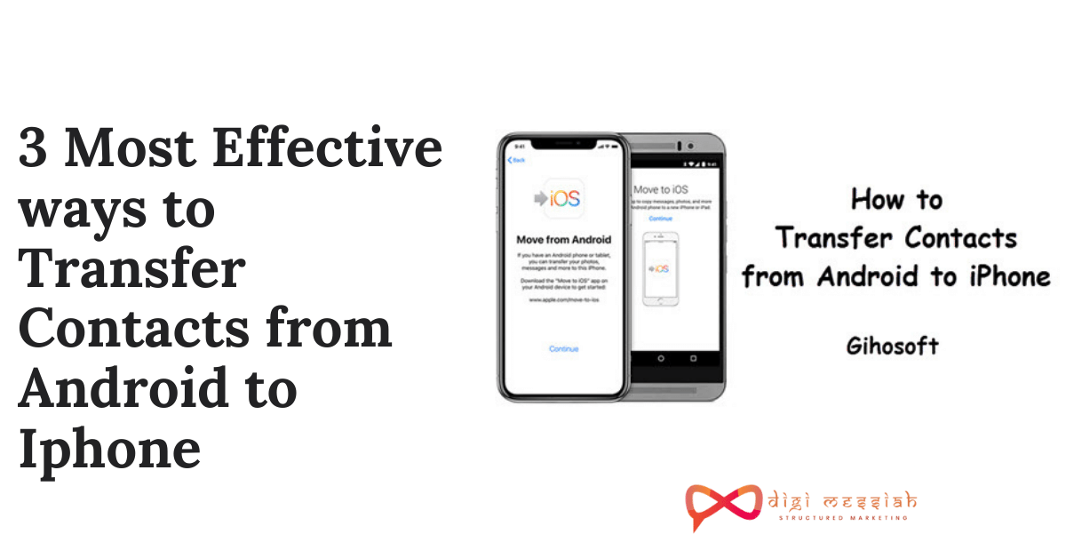 3 Most Effective ways to Transfer Contacts from Android to Iphone