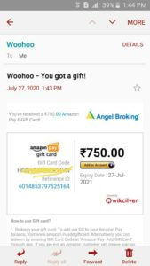 Angel Broking Refer and Earn Proof