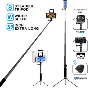Bluetooth best gopro selfie-stick-with-tripod