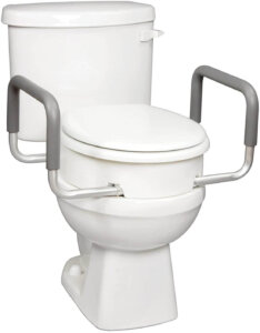 Carex 3.5 Inch Raised Toilet Seat with Arms