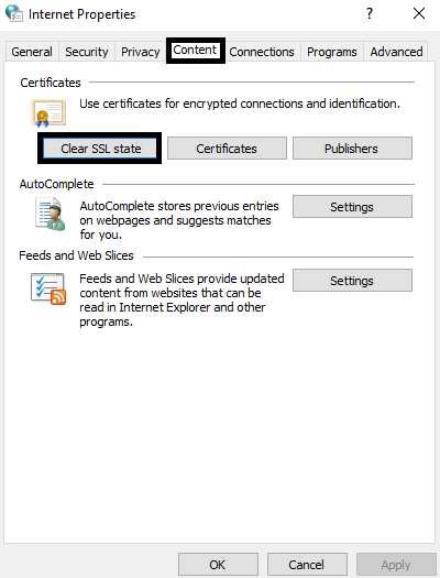 Clear SSL Certificate