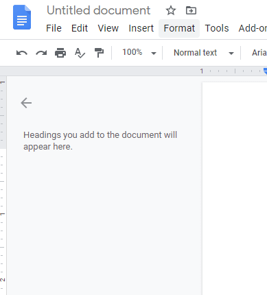 Click on Format Box [ superscript or subscript in google docs]