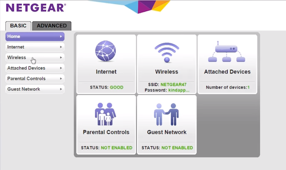 Click- on- the- BASIC- menu- and- go- to- Wireless- option-change-WiFi-password