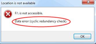Data Error Cyclic Redundancy Check Error
