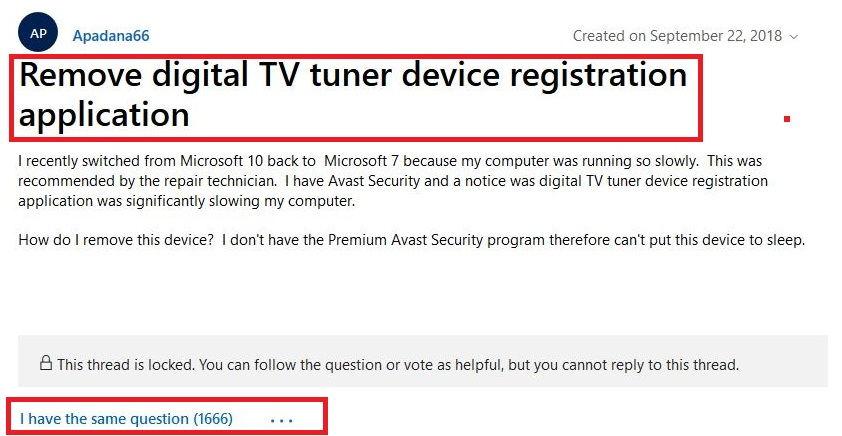 Digital TV Tuner Device Registration Application 1