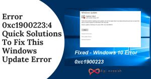 Error 0xc19002234 Quick Solutions To Fix This Windows Update Error