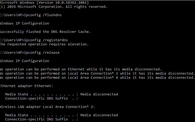 Flushing DNS Cache