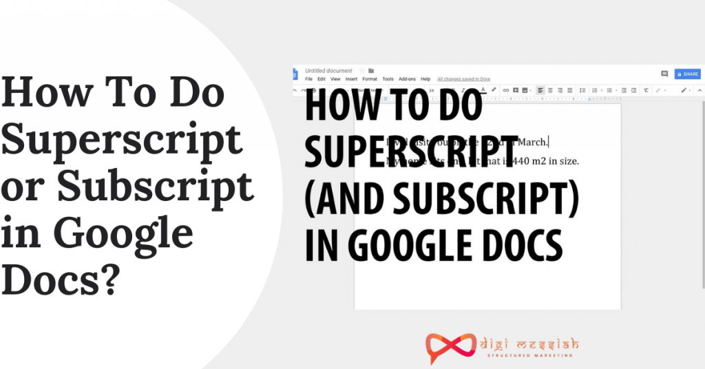 How To Do Superscript or Subscript in Google Docs