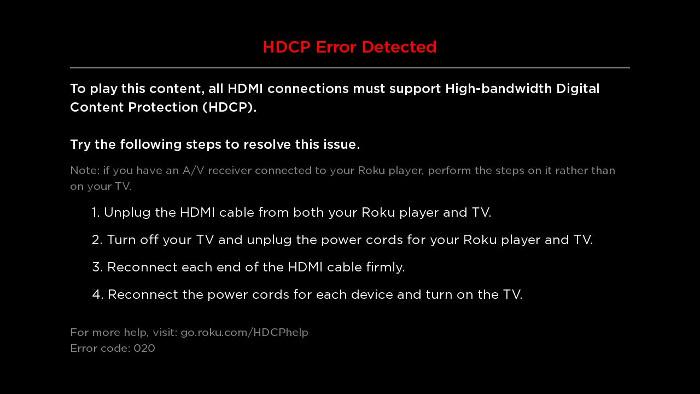 Hulu HDCP Error