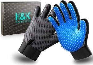 K&K best pet grooming gloves for dogs
