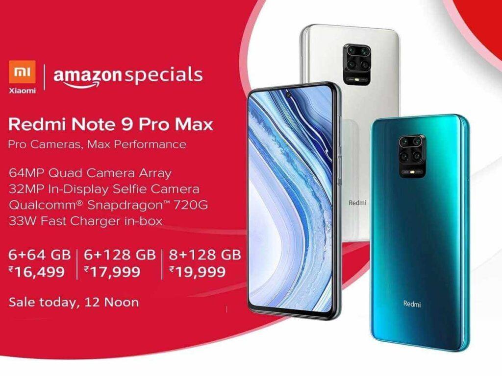 Redmi Note 9 Pro Max Flash Sale