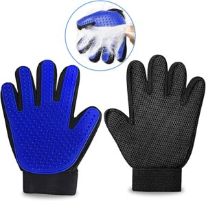 Silicone best pet grooming gloves for dogs