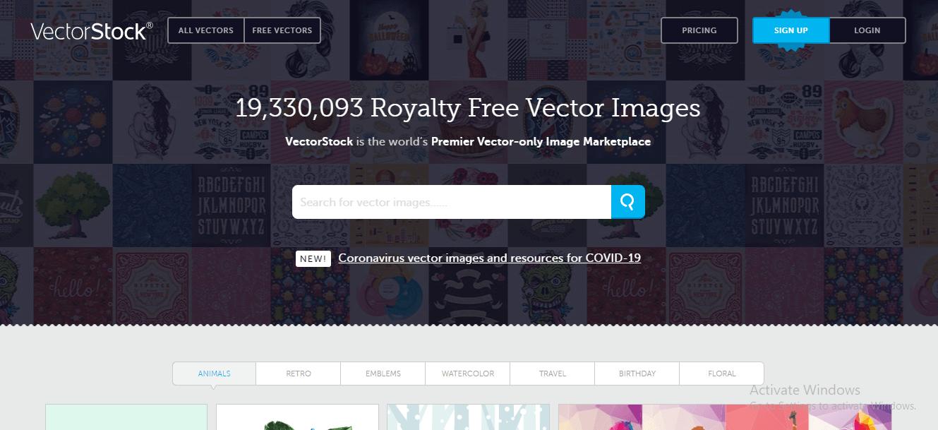 Vectorstock -website- download-vector-images