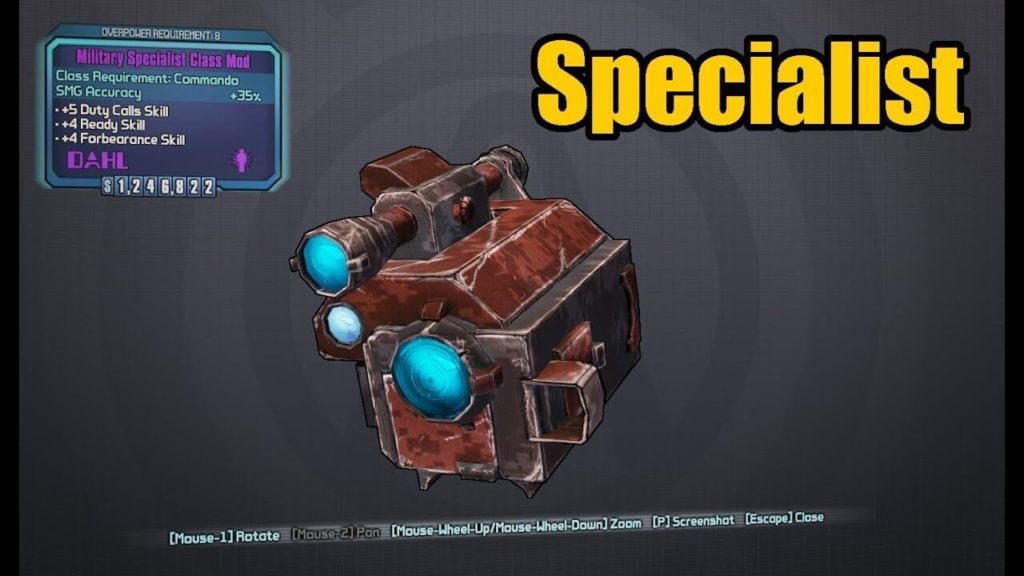 borderlands 2 weapon codes for class mods