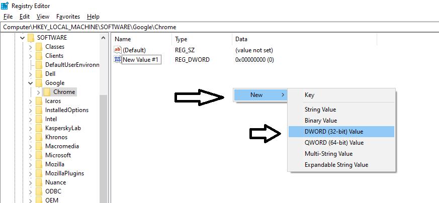 create a new folder in windows registry