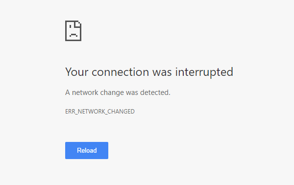 err network changed