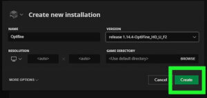 how to install optifine step 7