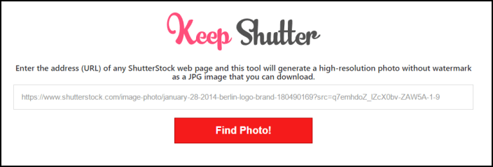 keepshutter to download shutterstock image with tool
