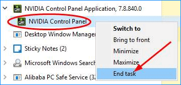 nvidia control panel wont open 1