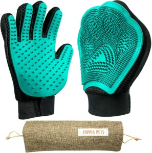 poppin-best pet grooming gloves for dogs