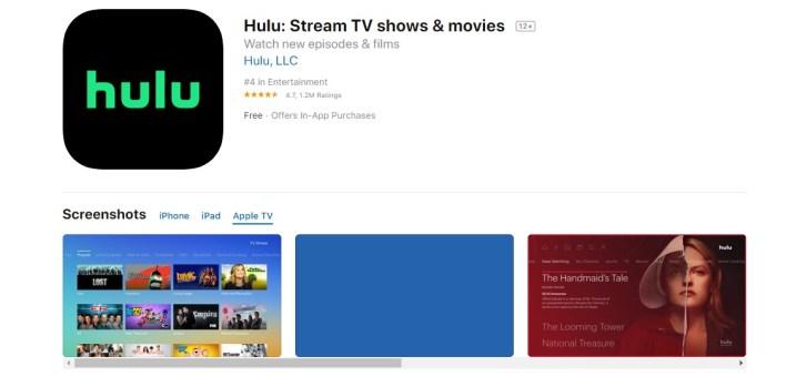 re install hulu app