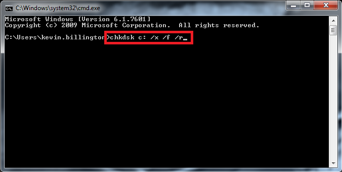 run check disk scan