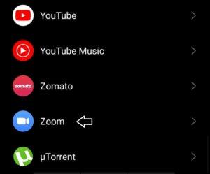 tap on zoom app to fix invalid id error