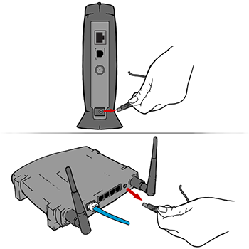 unplu and plug your modem router