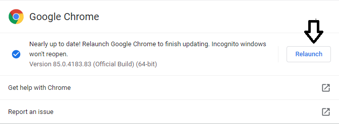 update google chrome browser