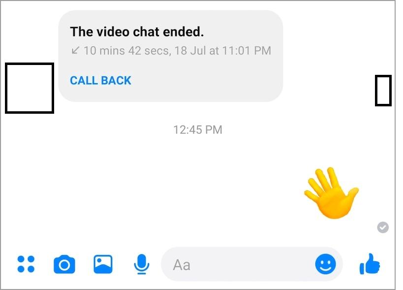 wave back on messenger